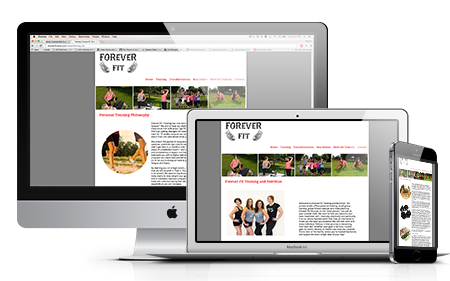 Forever Fit Training and Nutrition Website