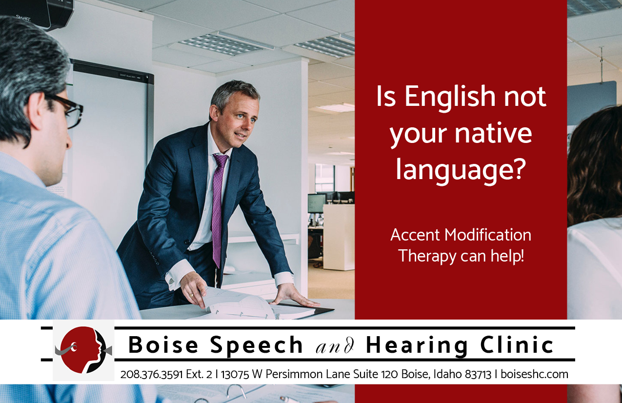 Boise Speech and Hearing Clinic Accent Modification Flyer