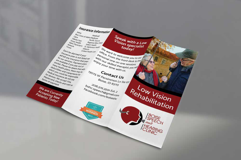 Low Vision Rehab Trifold Brochure