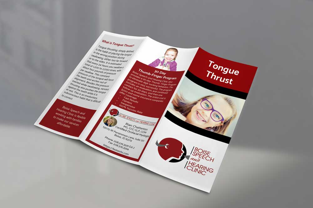 Tongue Thrust Trifold Brochure