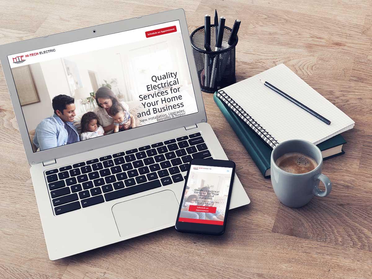 electrician business website design